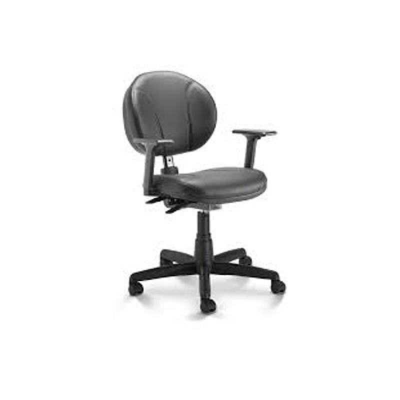 Cadeira para Escritórios Secretária Butantã - Cadeira Giratória com Braço para Escritório