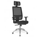 cadeira giratória com braço para escritórios Alto da Lapa