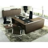 mesa de escritório em l com gaveta Pacaembu