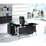 mesa de escritório em l com gaveta